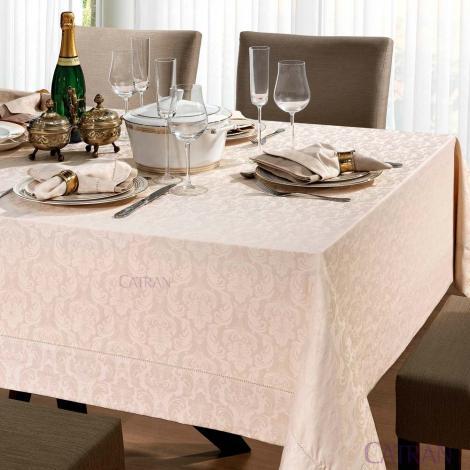 imagem do produto Toalha de Mesa Retangular 160x220cm Jacquard Baroque - Copa e Cia