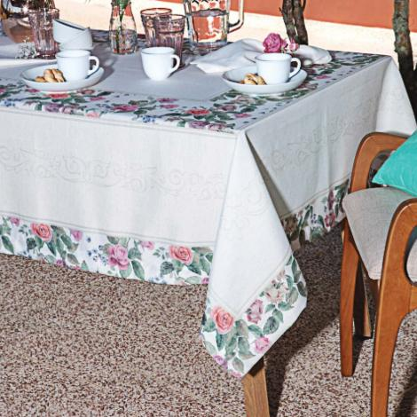 imagem do produto Toalha de Mesa Retangular 160x220cm Linho Betina - Linha K