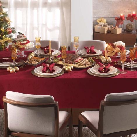 imagem do produto Toalha de Mesa Retangular 160x320cm Celebration Veríssimo Natal - Karsten