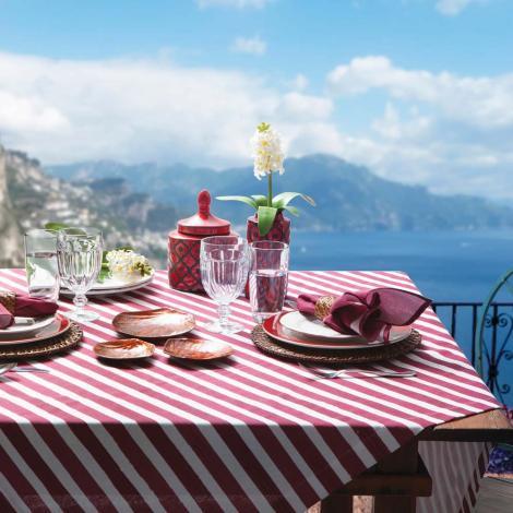 imagem do produto Toalha de Mesa Retangular 180x220cm Amalfi - Naturalle Fashion