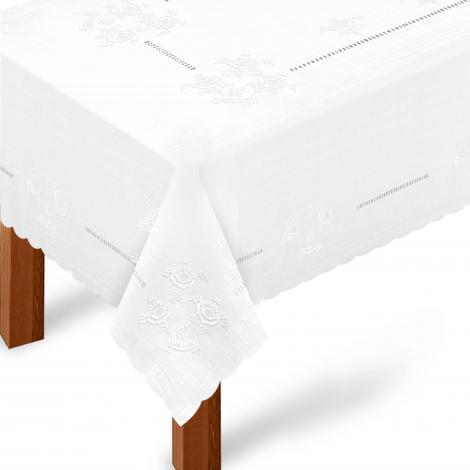 imagem do produto Toalha de Mesa Retangular 180x220cm Bordada 234 - Rafimex