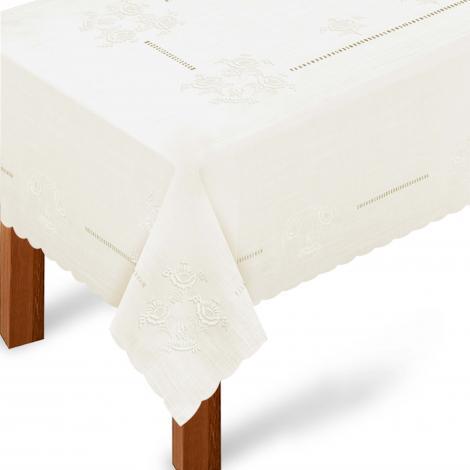 imagem do produto Toalha de Mesa Retangular 180x270cm Bordada 234 - Rafimex