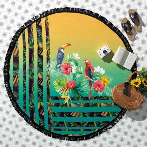 imagem do produto Toalha de Praia Redonda Brasileiríssimas Ipanema - Altenburg