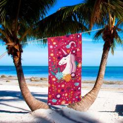 85939d39b39d ... imagem de Toalha de Praia Velour Unicórnio - Dohler
