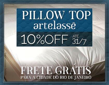 Pillow Top  Artelassê com 15% Off