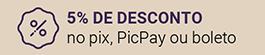 desconto de 5% para pagamento em boleto bancário